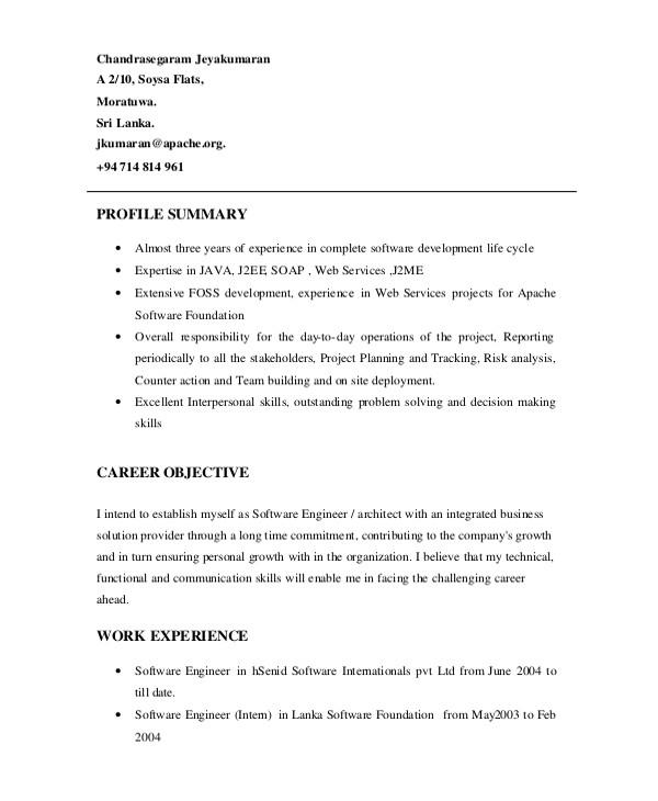 Engineering Resume Summary Sample software Engineer Resume 8 Examples In Word Pdf