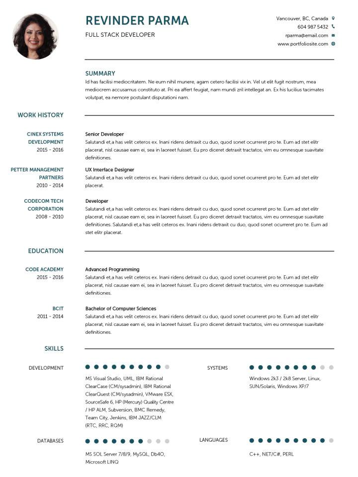 English Resume format Word Cv Templates 20 Options to Improve Your Cv Visualcv