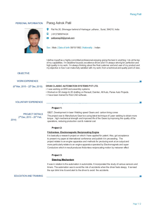 experienced mechanical engineer resume 59127021