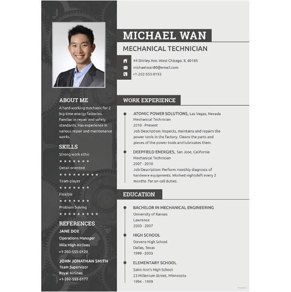 Experienced Mechanical Engineer Resume Pdf Resume Mechanical Engineer Resume Sample