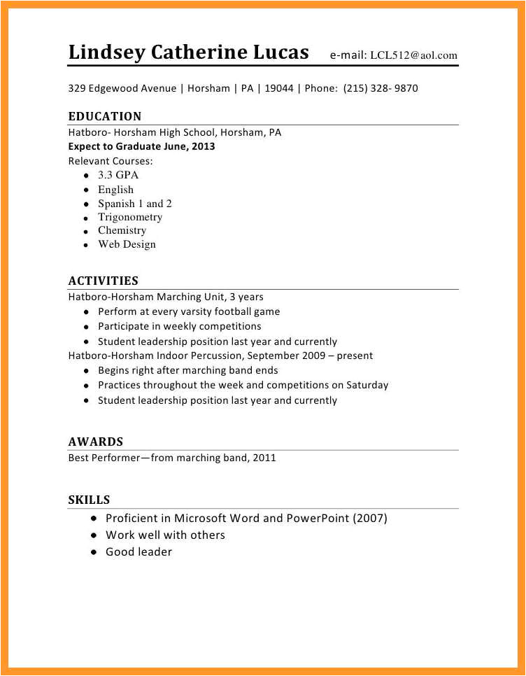 12 13 resume sample for first time job seeker
