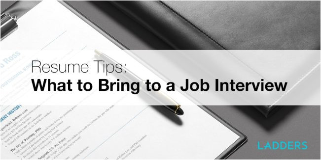 resume tips what to bring job interview