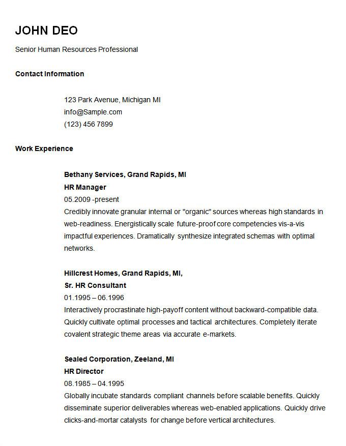 Free Basic Job Resume Templates 70 Basic Resume Templates Pdf Doc Psd Free