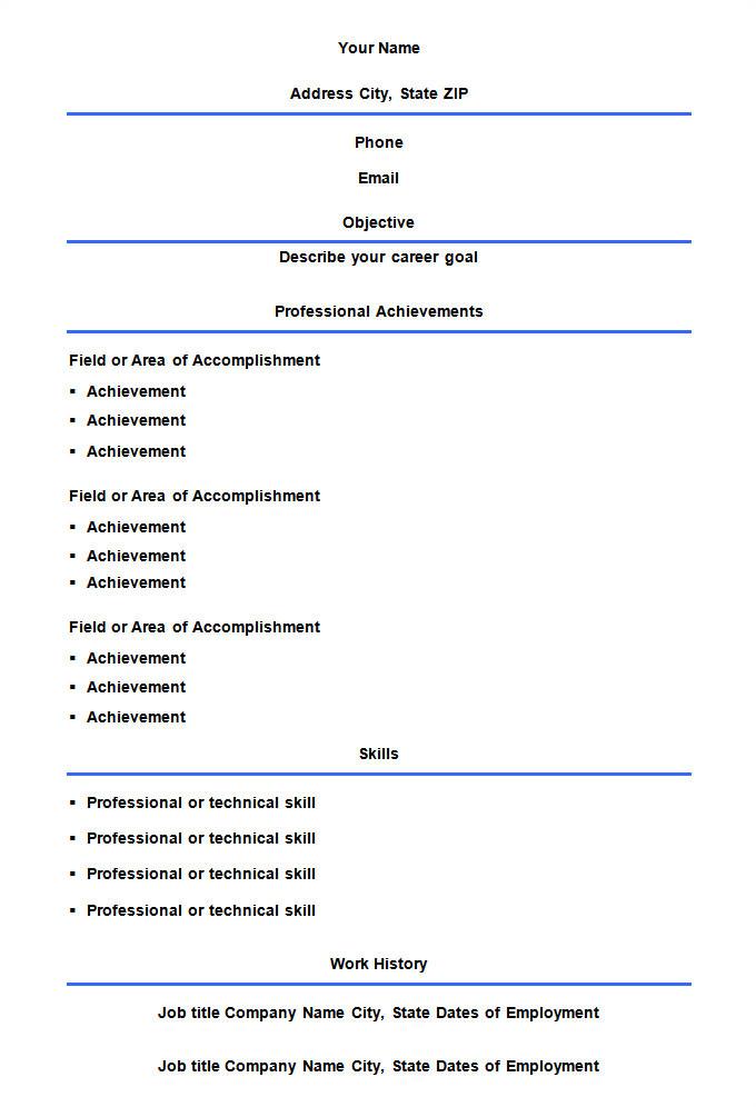 Free Blank Copy Of A Resume 46 Blank Resume Templates Doc Pdf Free Premium