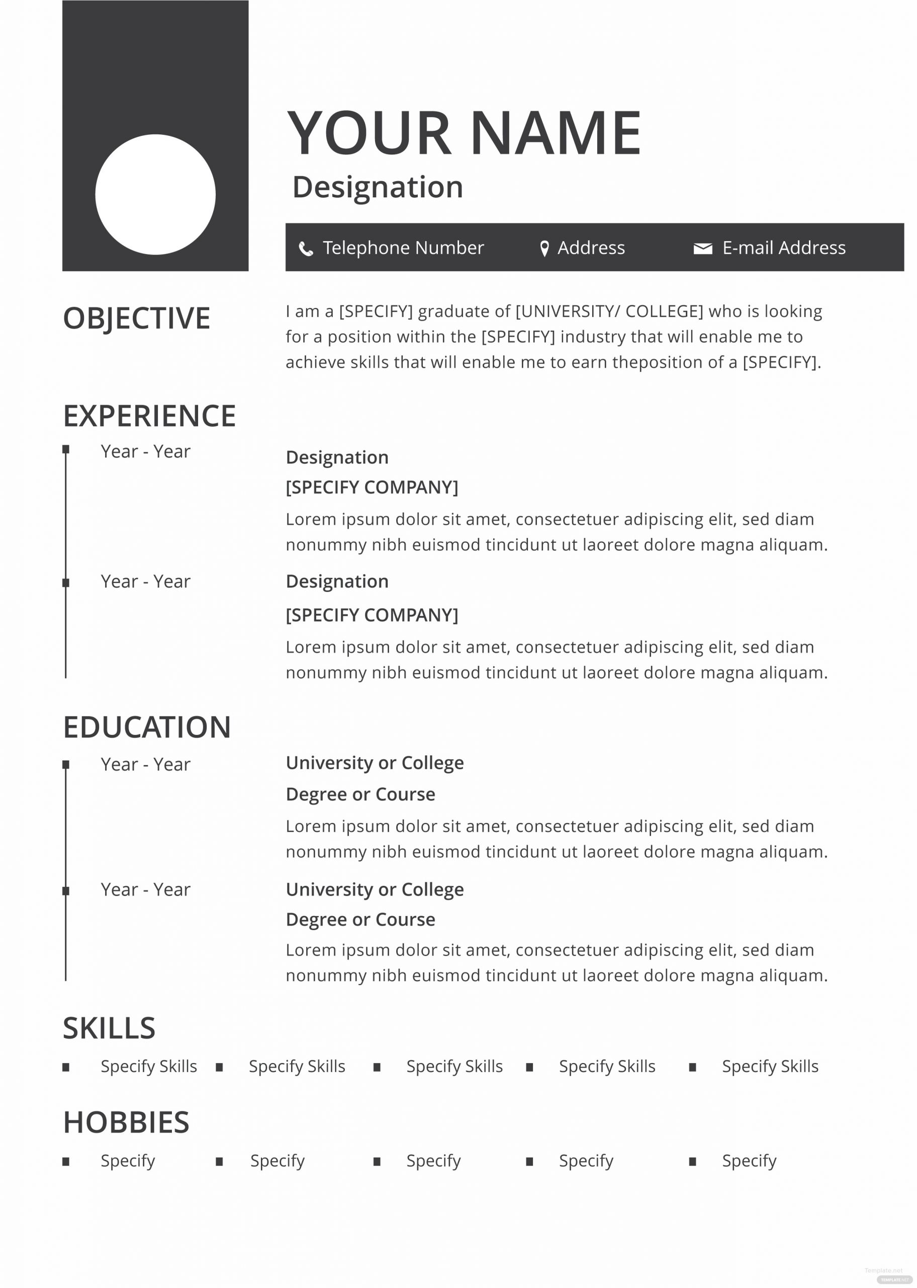 blank resume