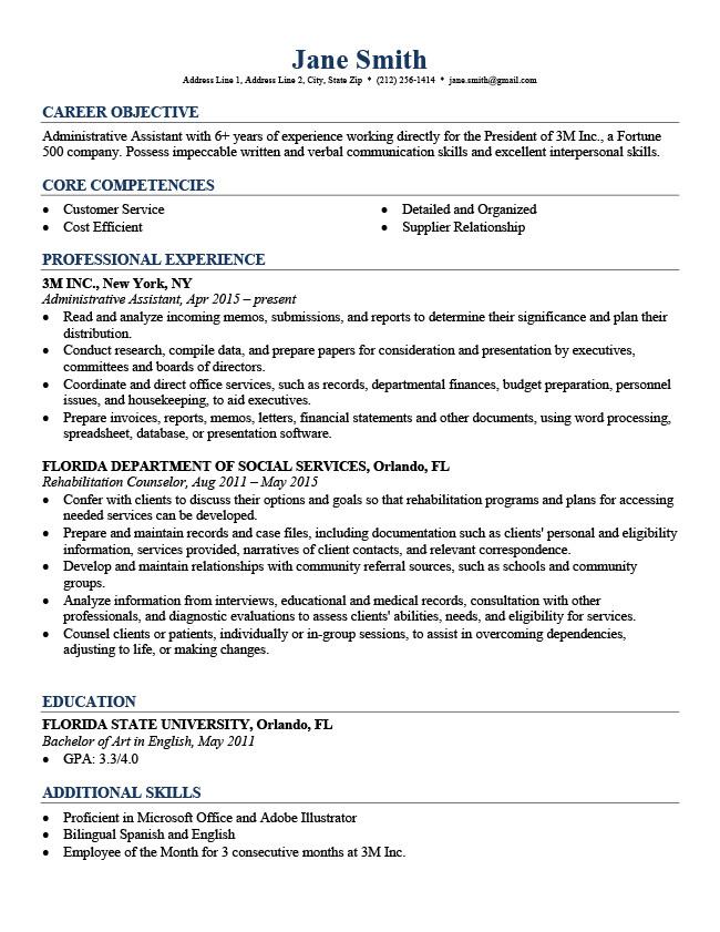 Free Professional Resume Professional Resume Templates Free Download Resume Genius