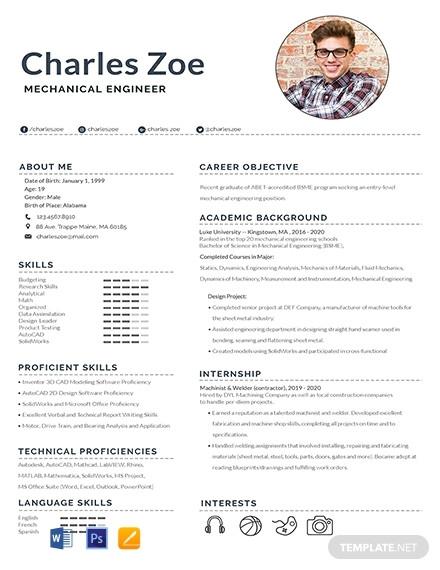 mechanical engineer fresher resume