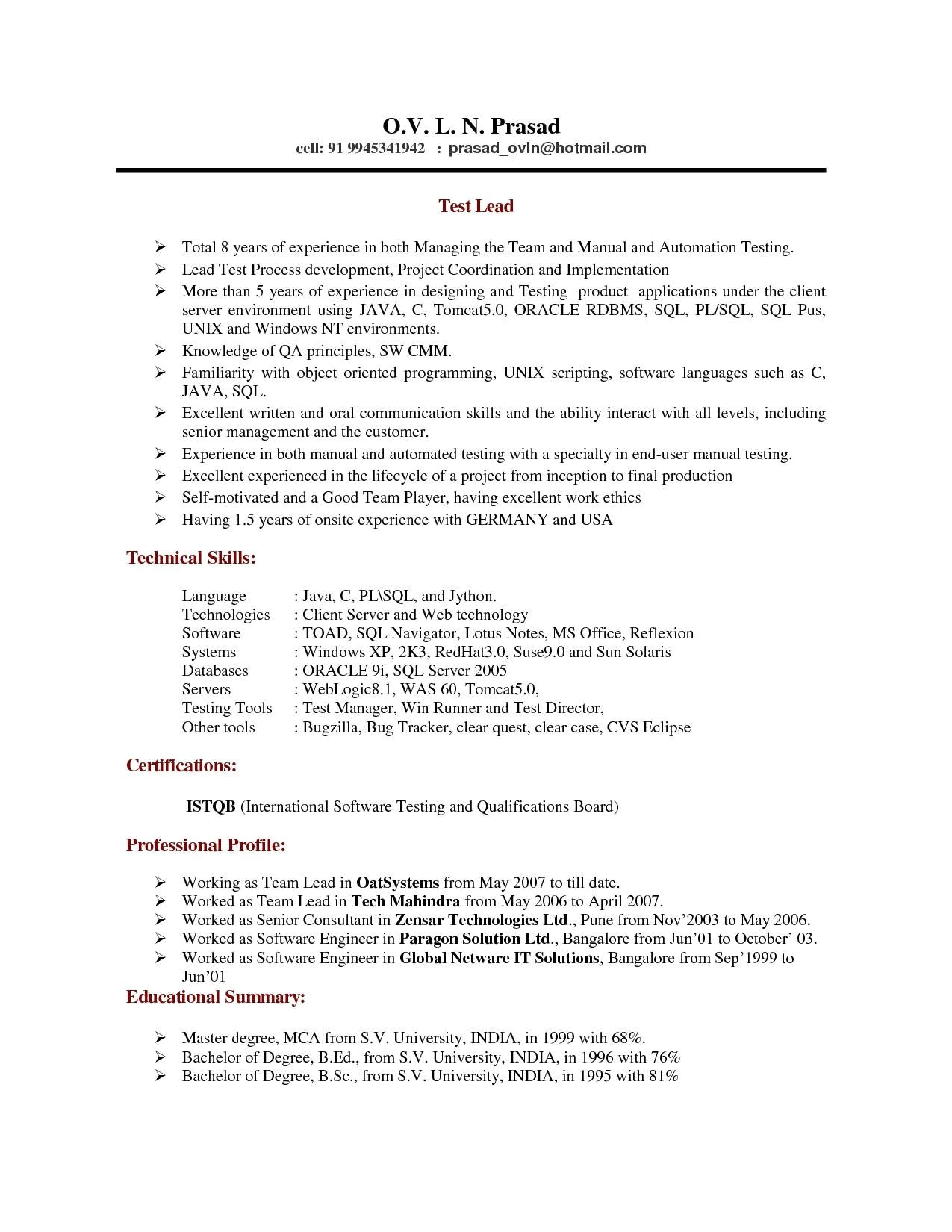 senior software engineer resume doc