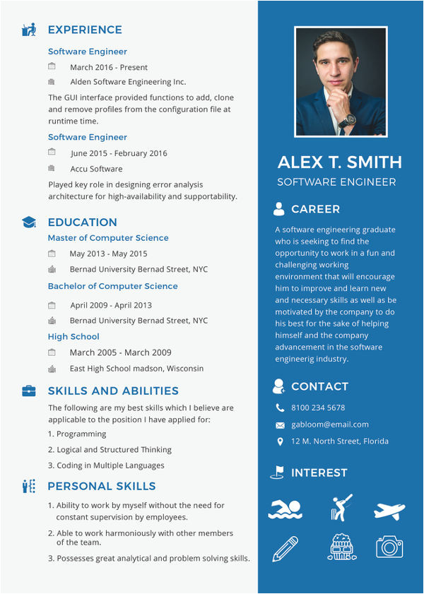 Fresher software Engineer Resume Sample Doc 28 Free Fresher Resume Templates Free Premium Templates