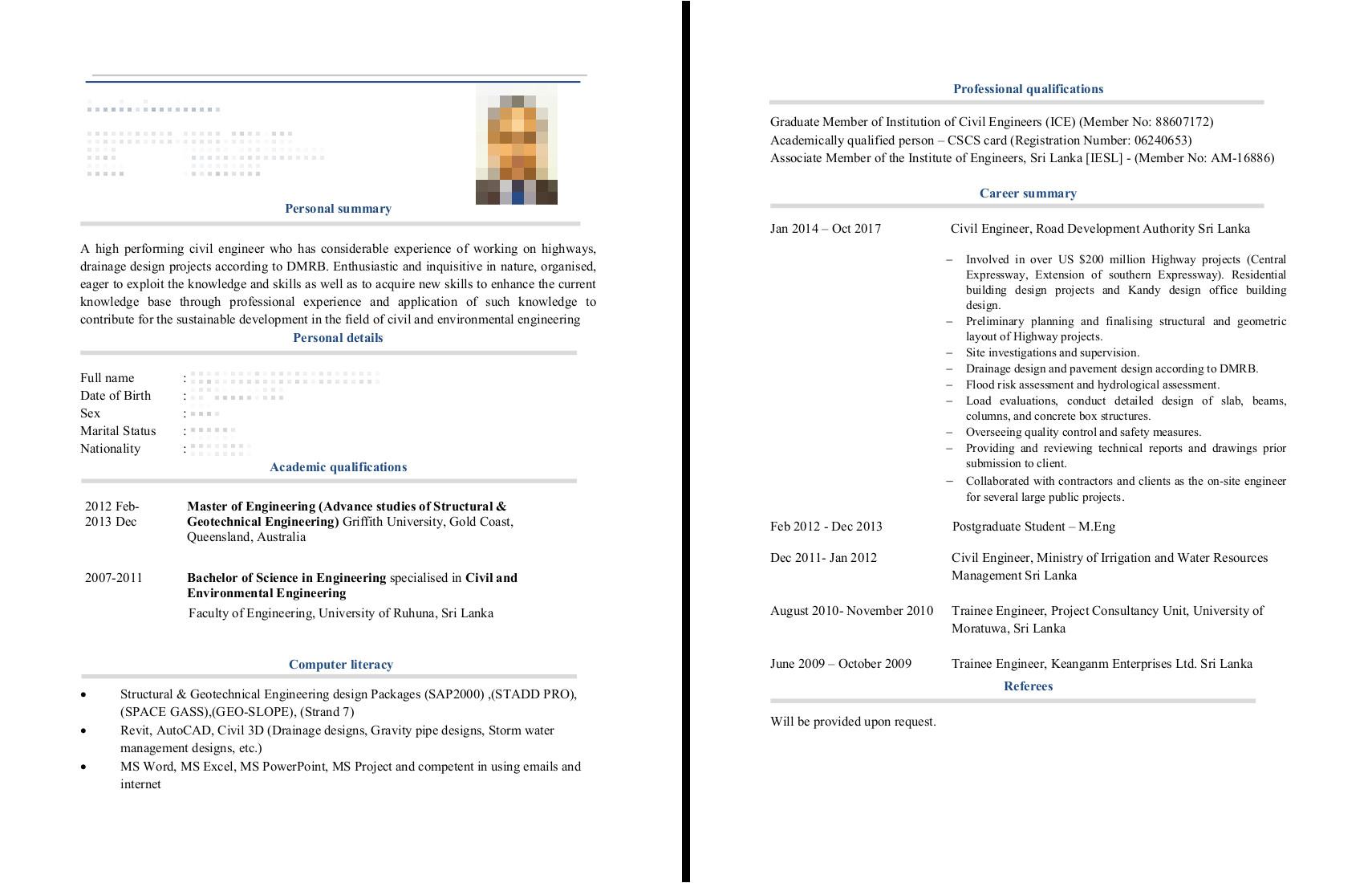Geotechnical Engineer Resume Civil Engineer Cv Examples the Cv Database