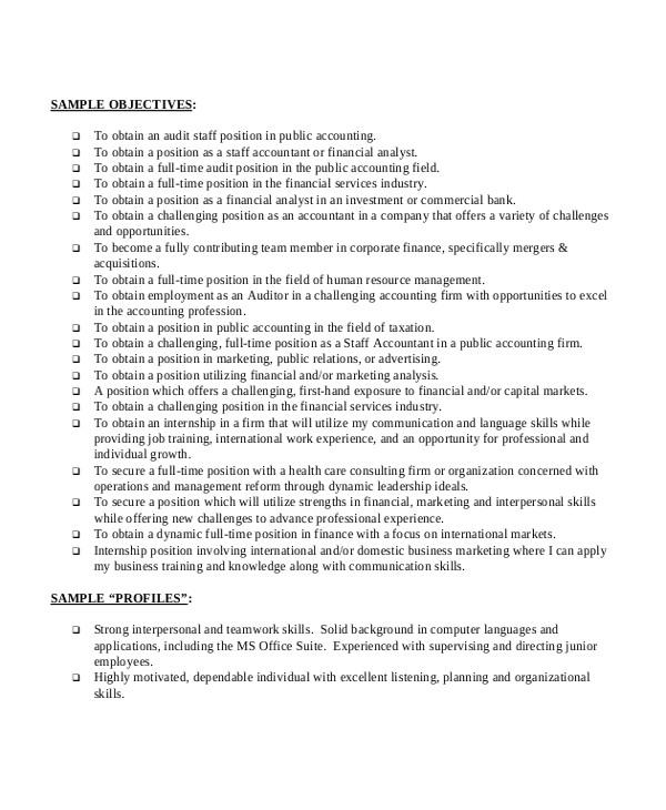 Good Basic Resume Objective Basic Resume Sample 8 Examples In Pdf Word
