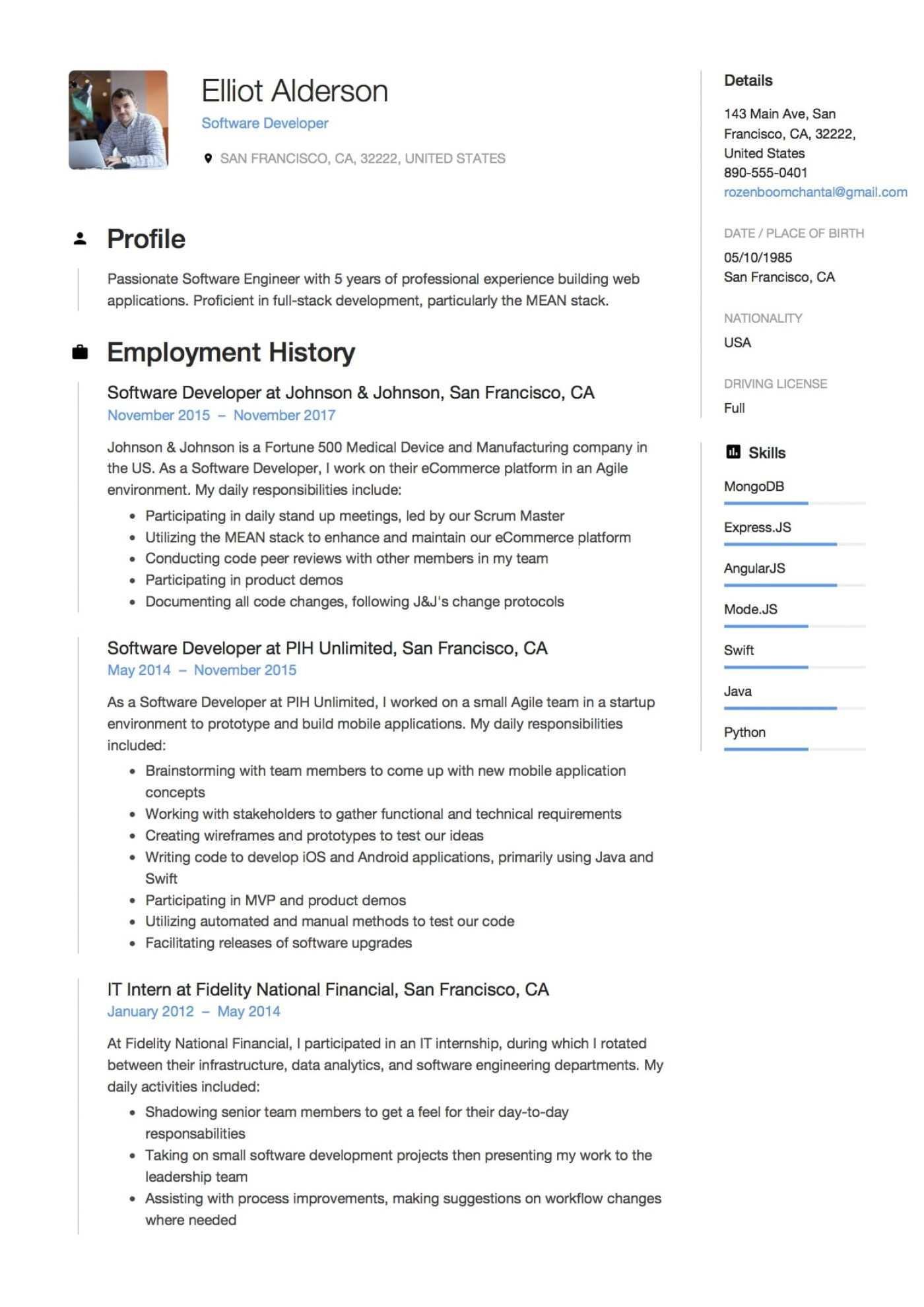 Google Engineer Resume Google software Engineer Resume Sample Resume Sample format