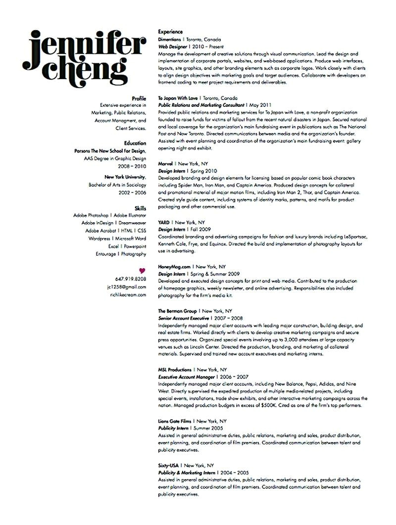 graphic design intern student resume