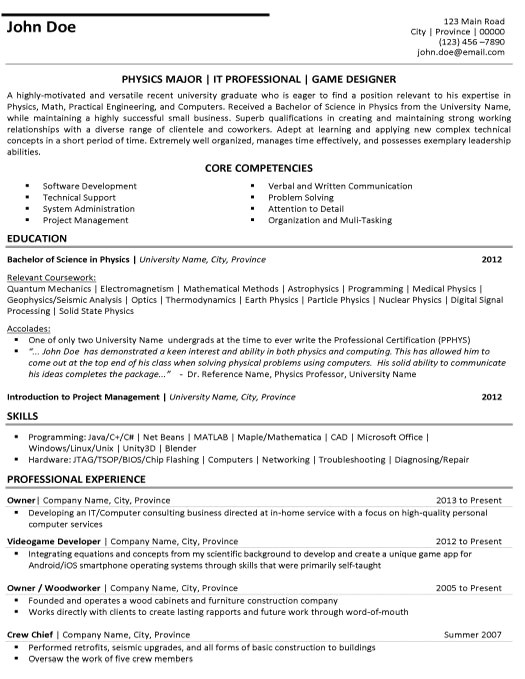 graphic design resume samples