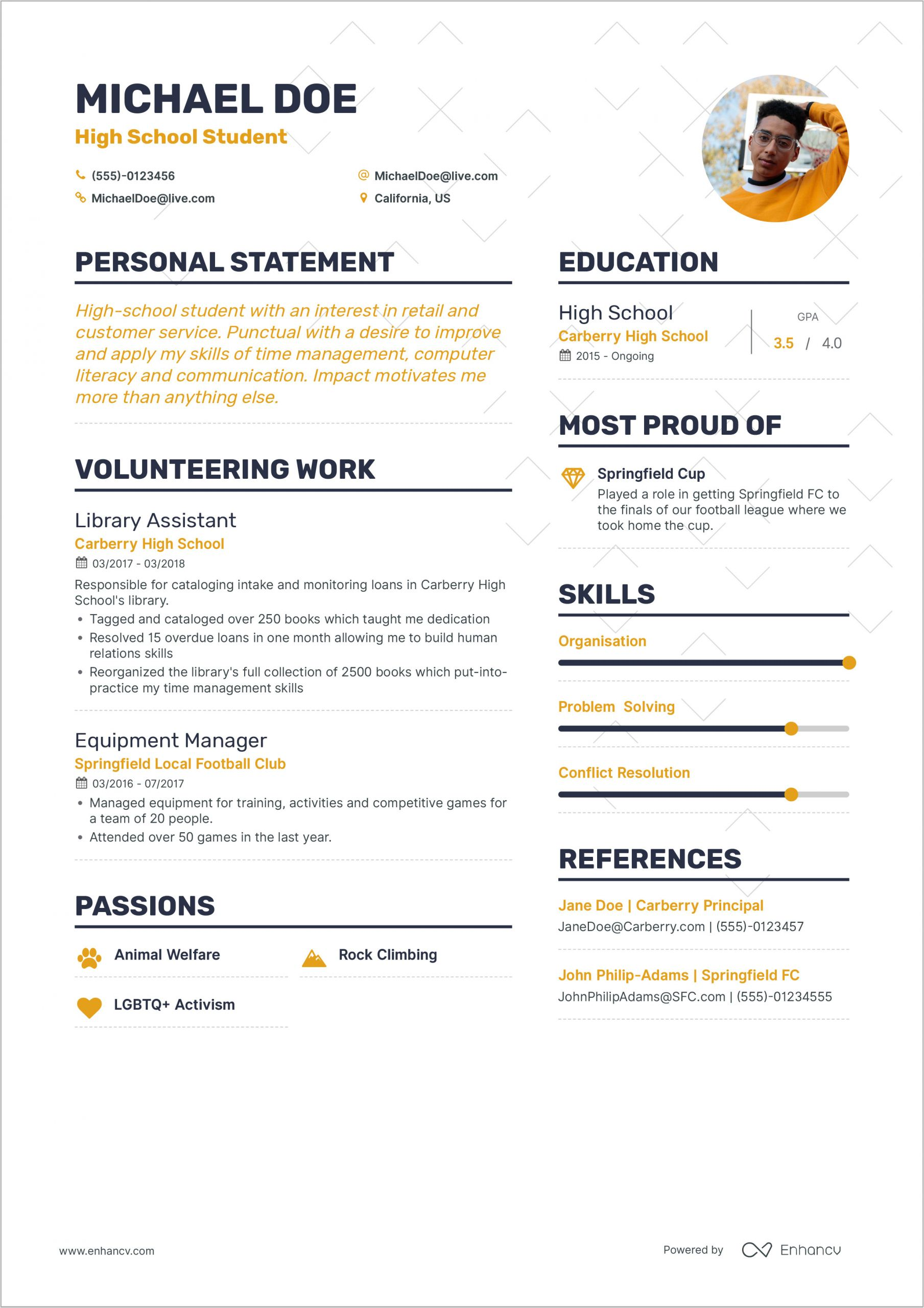How to format A Resume for Your First Job How to Write Your First Job Resume Guide