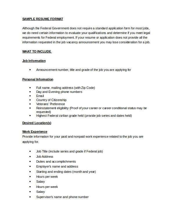 resume in word