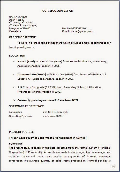 How to Make Resume for Job format How to Make Resume for Job Application