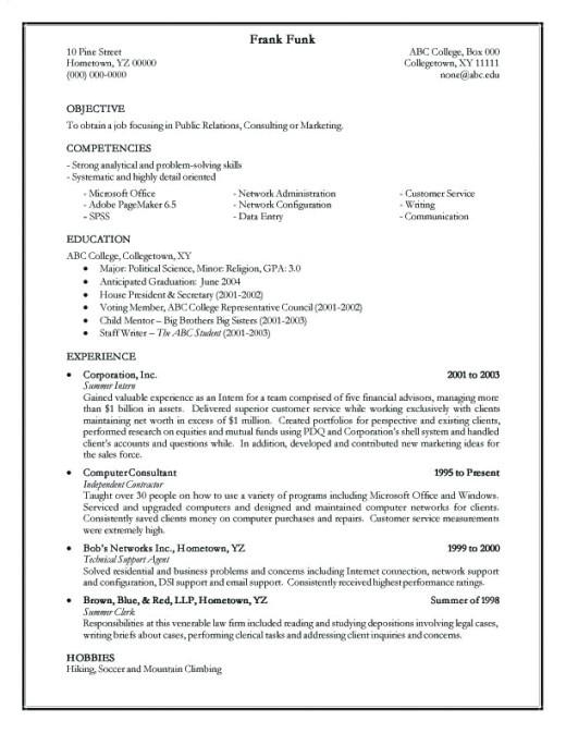 thejockspot creating a resume