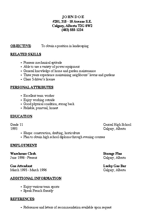How to Write A Basic Resume for A Job Pin by ashley Gavazza On Work Simple Resume Examples
