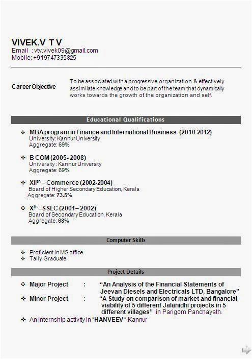 mba international business fresher
