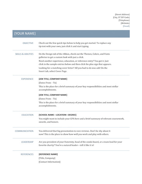 It Professional Resume Samples Free Download Professional Resume Template Resume Templates Free Download
