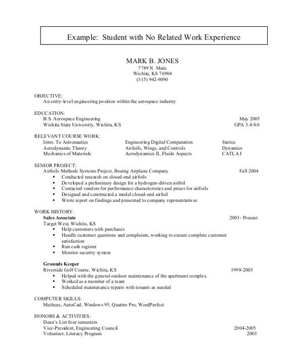 It Student Resume Sample No Experience Sample Resume for College Student 10 Examples In Word Pdf