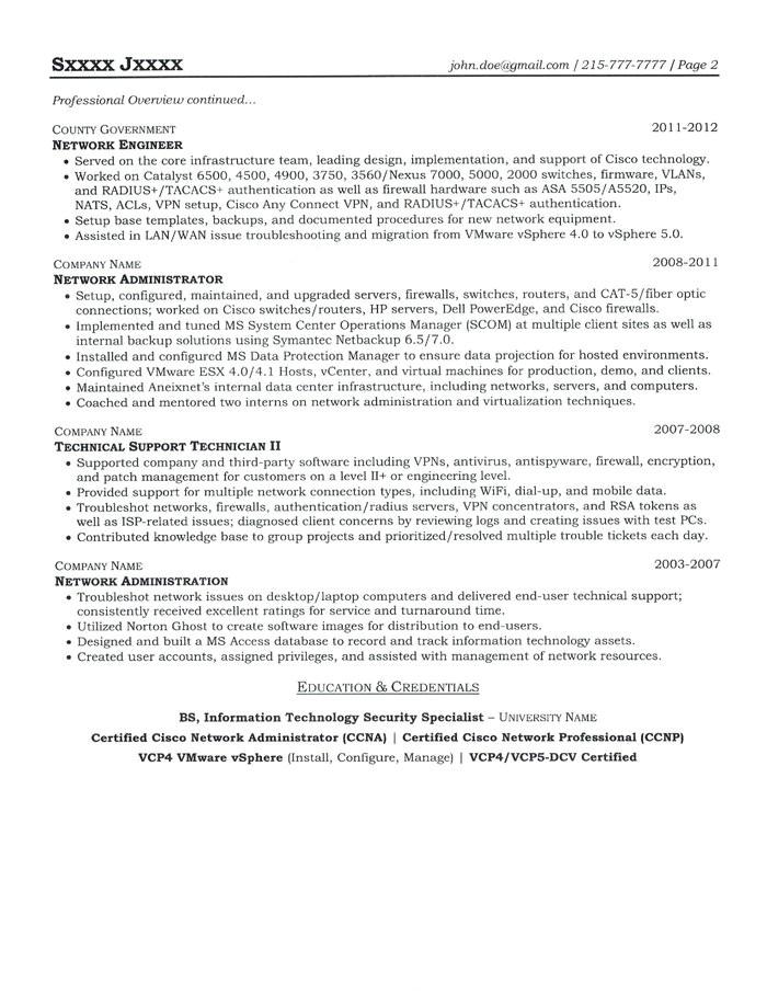 system engineer resume
