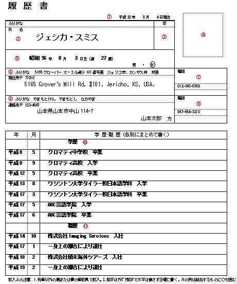 rirekisho the japanese resume