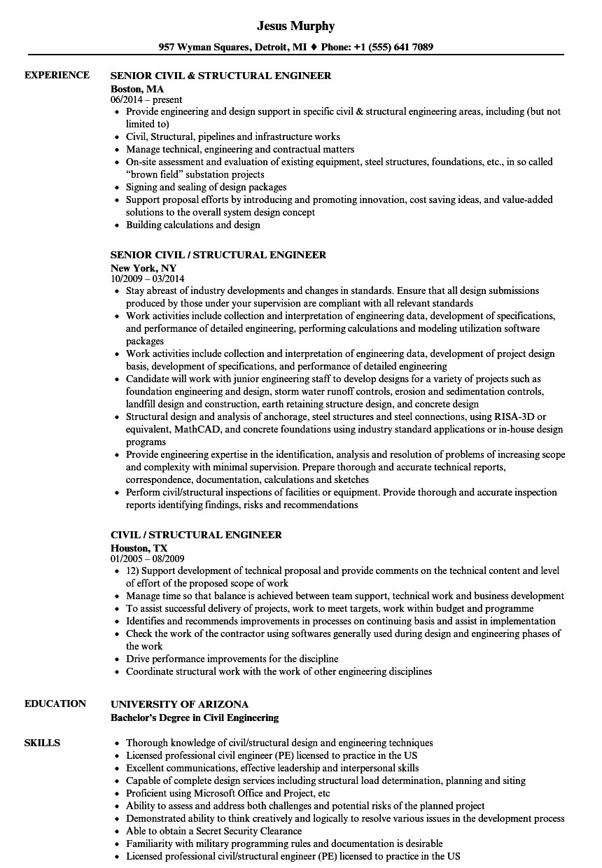 junior structural engineer resume  williamsonga