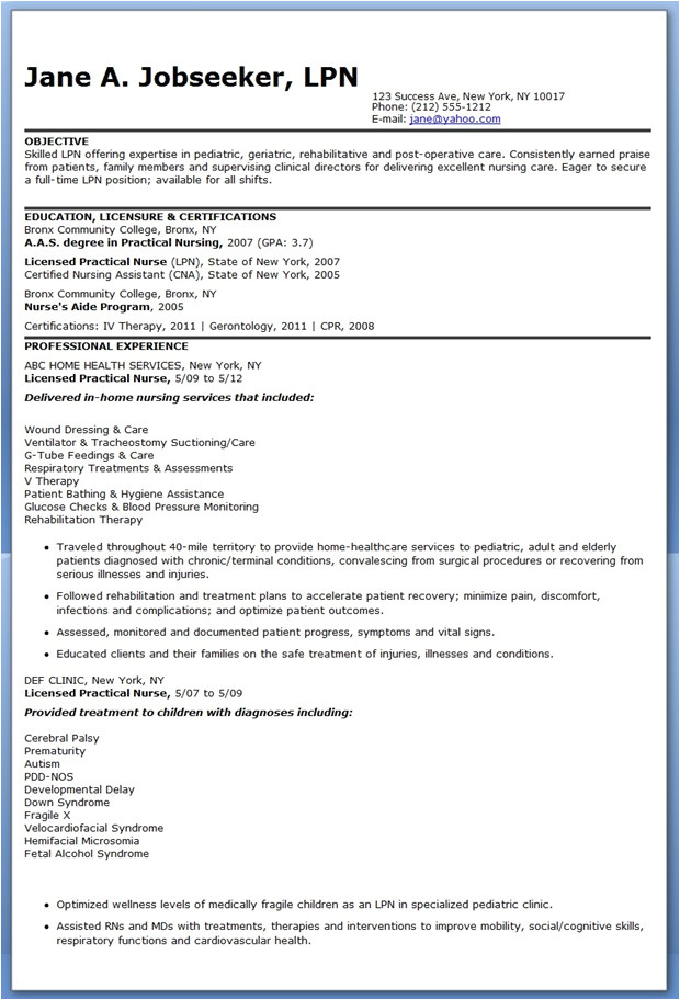 Lpn Resume Sample Sample Of Lpn Resume Sample Resumes
