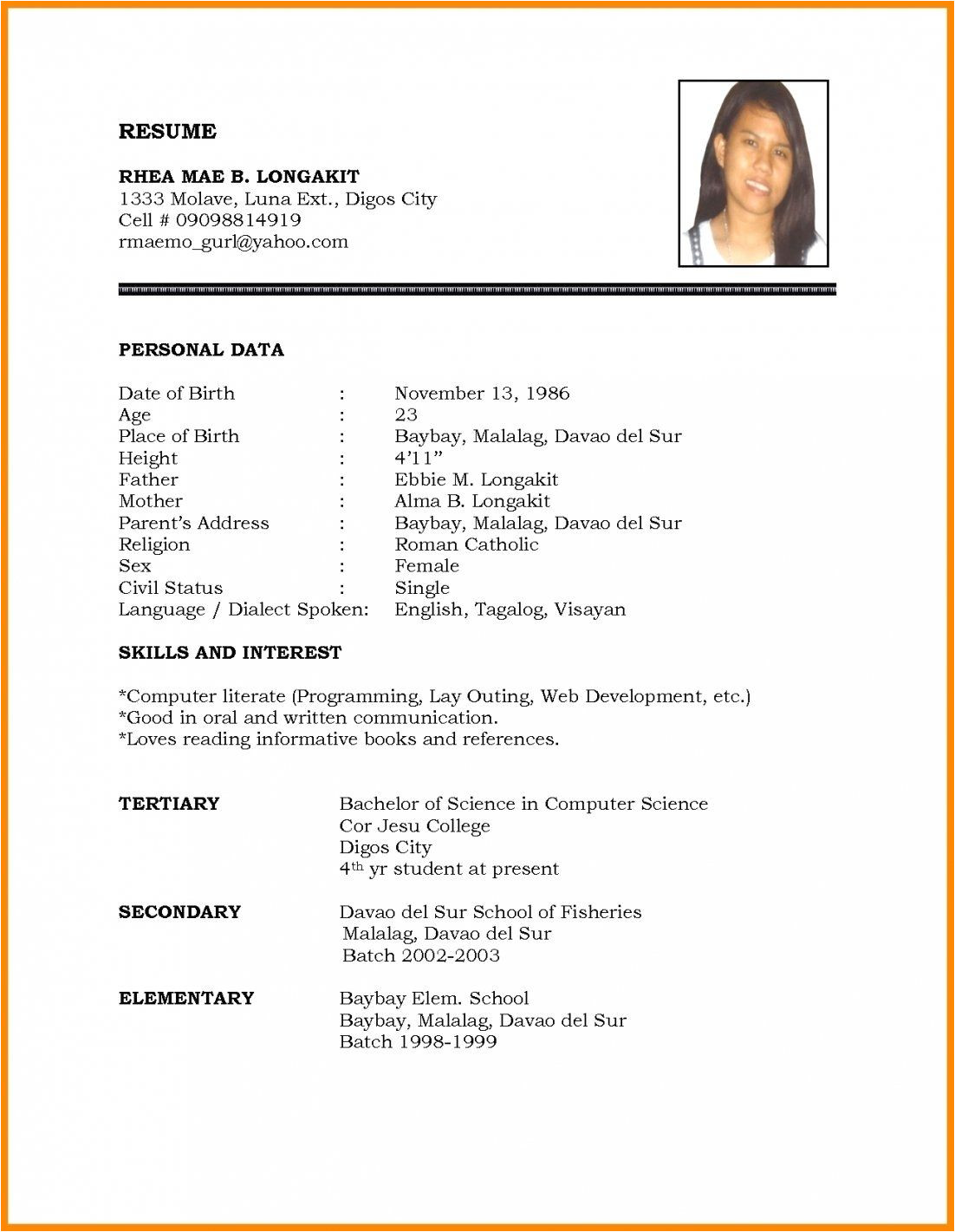 Marriage Resume format Word File Download Marriage Resume format Word File Beautiful Biodata Doc In