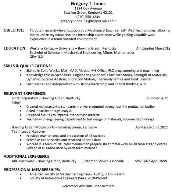 Mechanical Engineer Resume Headline What is the Best Resume Title for Mechanical Engineer
