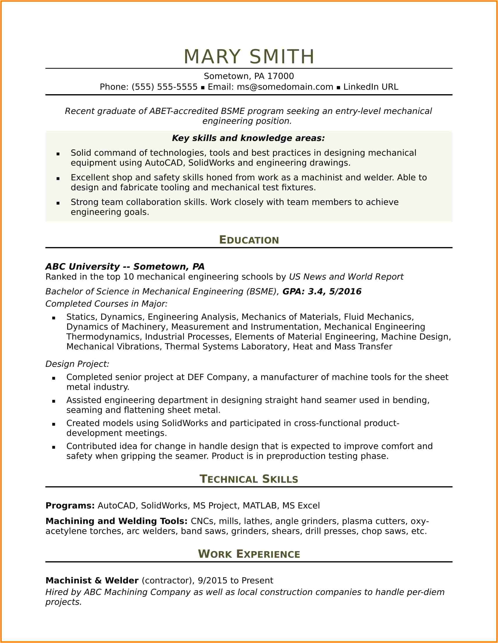 10 engineering student resume template