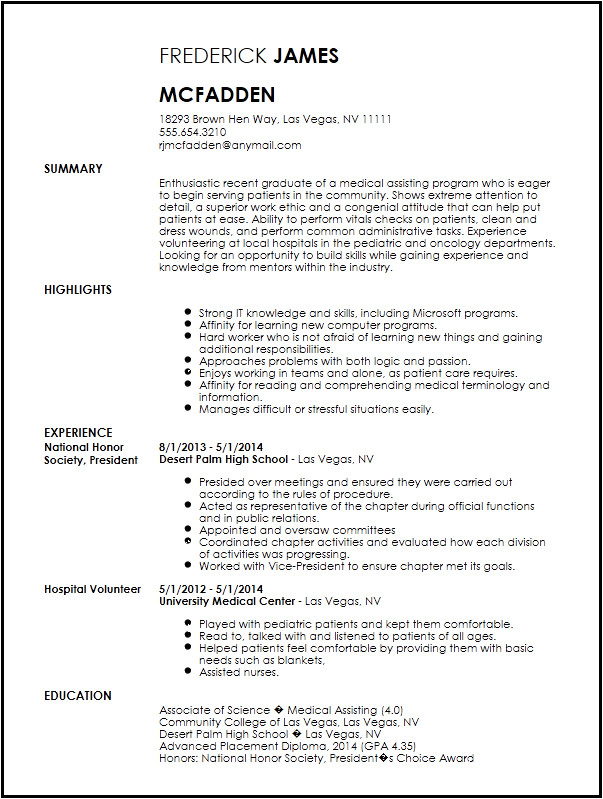 entry level medical assistant