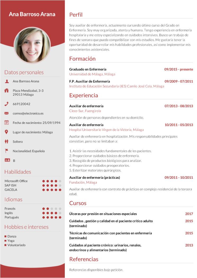 Modelo De Resumen Profesional Image Result for Resumen Profesional En Espanol Clase De