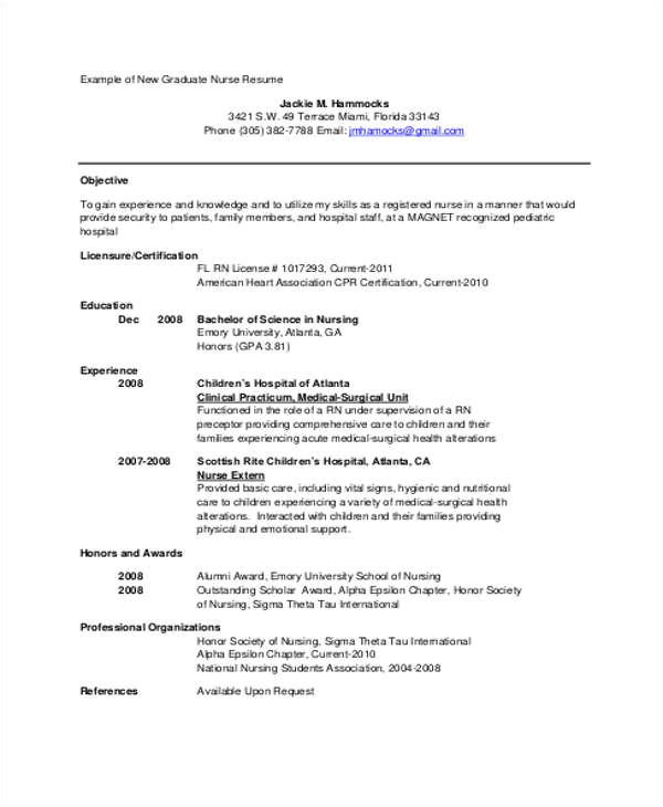student nurse resume