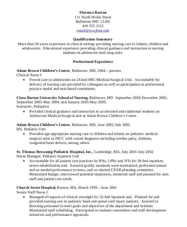 Nursing Student Resume with No Experience Pdf Nursing Student Resume Example 10 Free Word Pdf
