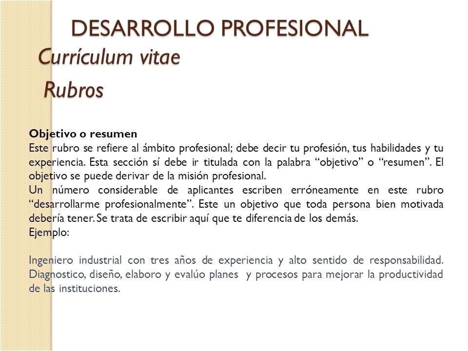 Objetivo Profesional Resume Objetivos Para Resume 264735 Ejemplo De Objetivo De Resume