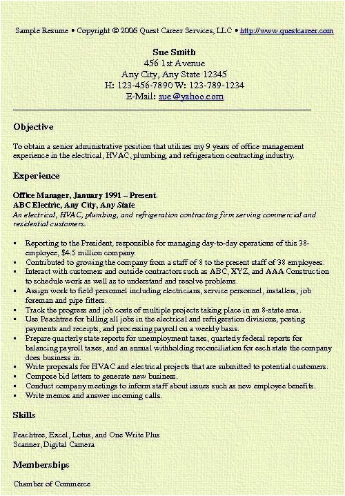 best office manager resume templates samples