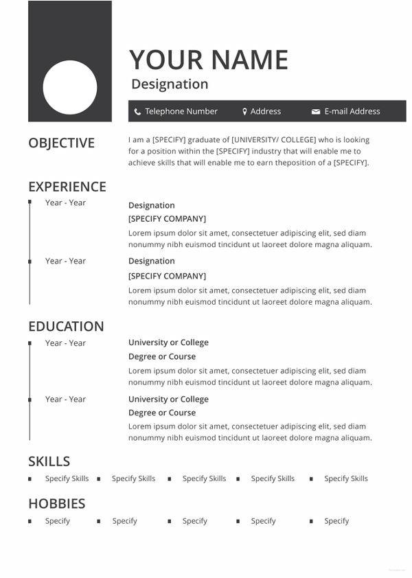 Online Blank Resume form 46 Blank Resume Templates Doc Pdf Free Premium