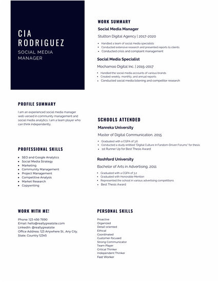 Online Simple Resume format Customize 603 Simple Resume Templates Online Canva