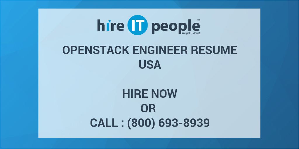70130 openstack engineer resume