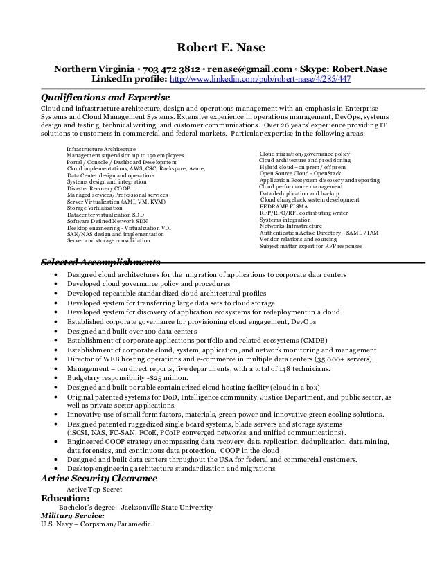 resume robert nase 2016 61373063