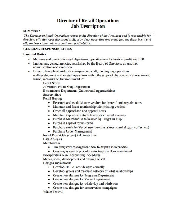 Operations Manager Resume Word format Sample Director Of Operations Resume 7 Free Documents