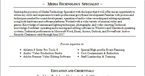 senior food operations manager sample