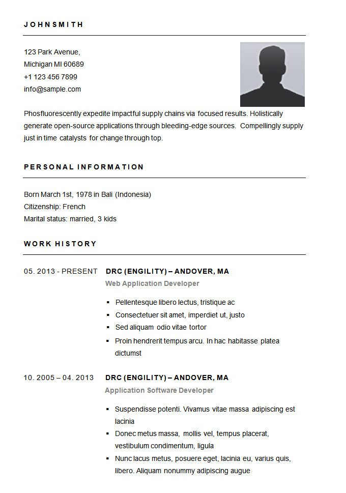 Pictures Of A Basic Resume 70 Basic Resume Templates Pdf Doc Psd Free