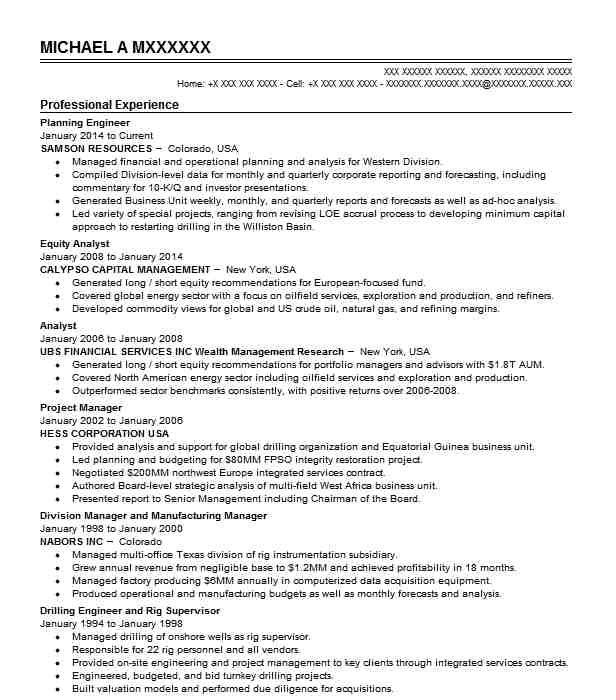 Planning Engineer Resume Planning Engineer Resume Sample Technical Resumes