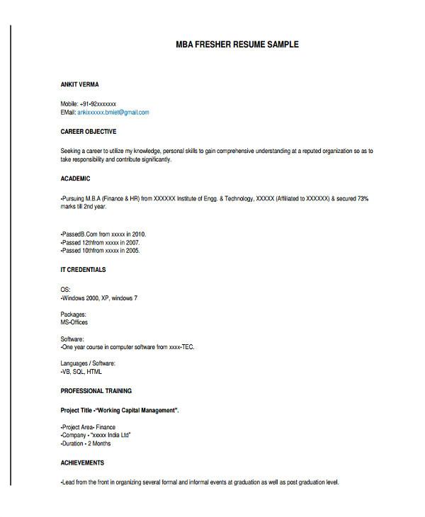 Post Graduate Fresher Resume format 12 Graduate Fresher Resume Templates Pdf Doc Free