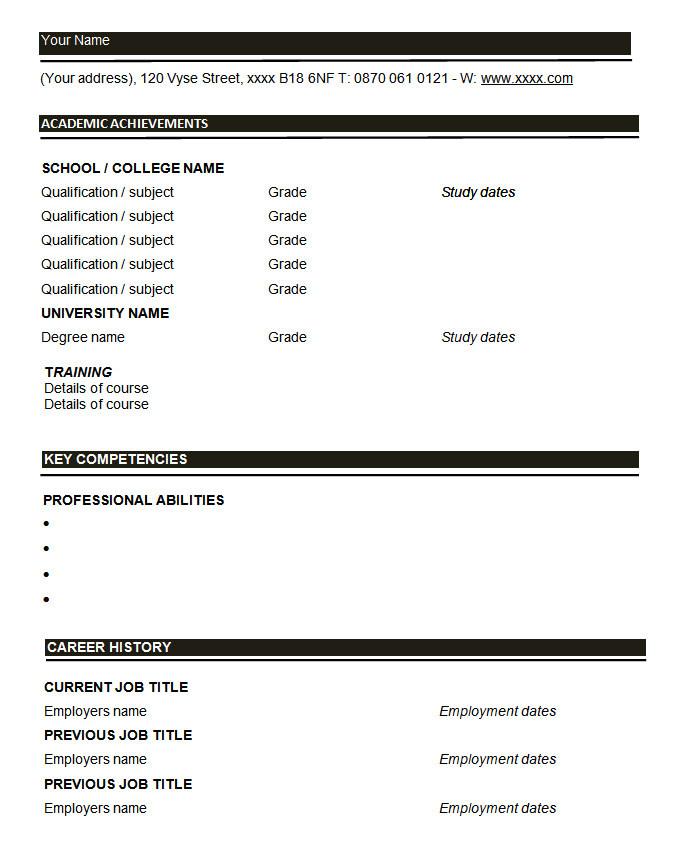 Printable Basic Resume Templates 46 Blank Resume Templates Doc Pdf Free Premium