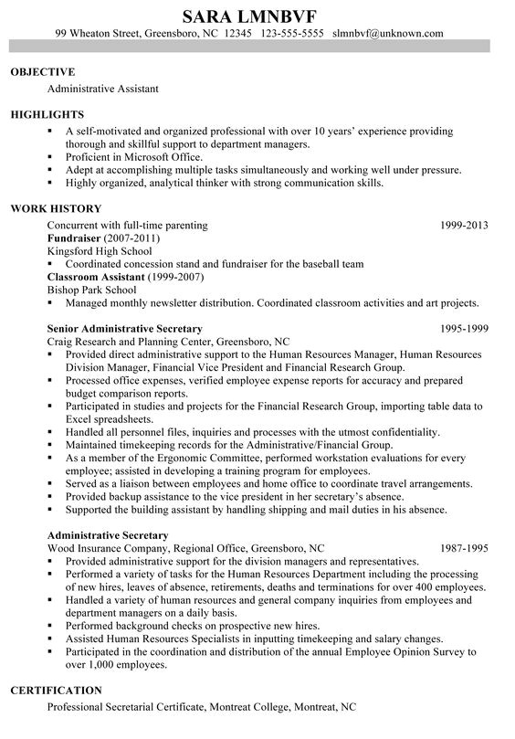 Readymade Resume Word format Great Administrative assistant Resumes Using